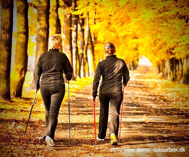 Скандинавская-ходьба для пожилых людей