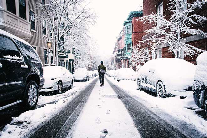 Снег на земле
